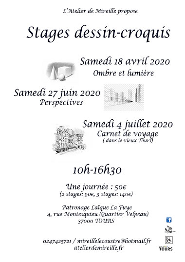 stages dessin 2020